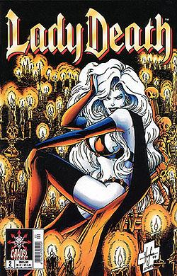 Pulido, Brian und Steven Hughes: Lady Death (Kiosk) 2,  Chaos ! Comics, Sept 1998, Comic-Heft DEV