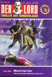 Mord mal vier, Der Lord 26 , Grusel - Thriller - Sonderklasse, Anne Erber Roman-Heft