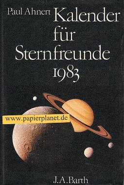 Kalender für Sternfreunde 1983 .