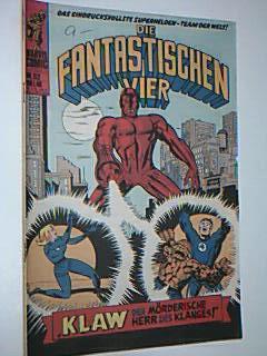 Die Fantastischen Vier 52 Klaw, mit Der Dämon, = Daredevil, Fantastic Four , Williams Marvel Comic-Heft Marvel Comic
