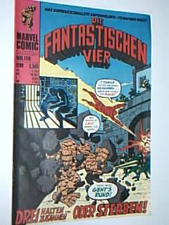 Die Fantastischen Vier 116, Drei halten zusammen!, mit Der Dämon, = Daredevil, Fantastic Four. Williams Marvel Comic-Heft