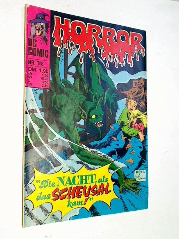 RubenyJohn Fuller DON NEWTON u. a.: Horror 118 ...als das Scheusal kamm, Williams DC Comic-Heft, ERSTAUSGABE 1980