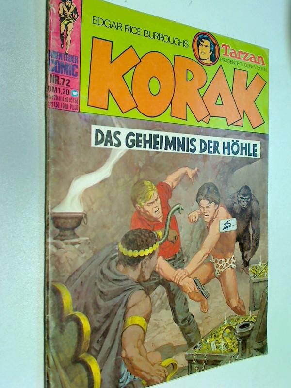 Korak Tarzans Sohn 72, Das Geheimnis der Höhle , BSV Williams Comic-Heft, ERSTAUSGABE 1974 Edgar Rice Burroughs ,