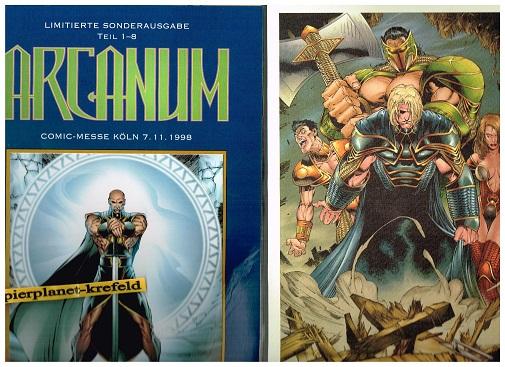 Peterson, Brandon: Arcanum. Limitierte Sonderausgabe Teil 1-8. , mit GrafikComic-Messe Köln 7.11.1998 (Splitter Comics).