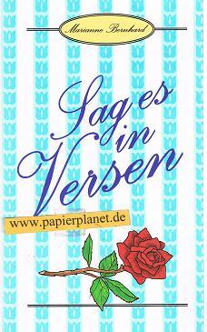 Sag es in Versen (381121196X)