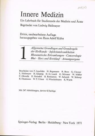 Innere Medizin, Ein Lehrbuch für Studierende der Medizin und Ärzte, Band 1