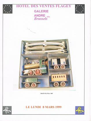 Hotel des Ventes Flagey - Galerie André Fils: Importante Vente publique de Jouets Anciens, Lundi 08 Mars 1999 .