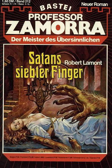 Professor Zamorra Band 212 Satans siebter Finger. Der Meister des Übersinnlichen.