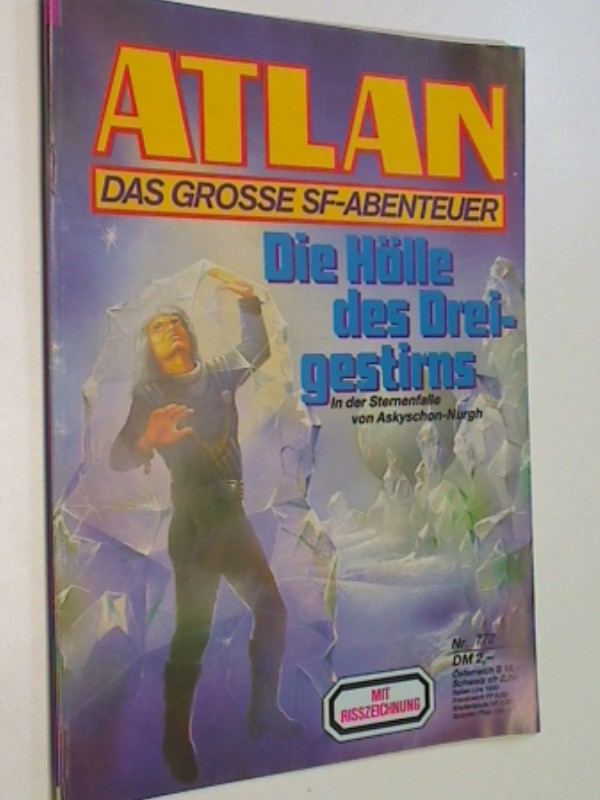 Atlan - Band 772 mit Risszeichnung, Das grosse- SF-Abenteuer. Roman-Heft