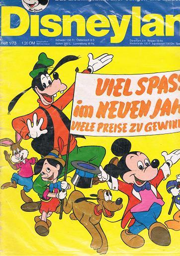 Disneyland Heft 1/73 Das Lieblingsblatt aller Jungen und Mädchen