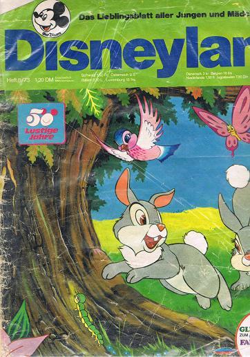 Disneyland Heft 8/73 Das Lieblingsblatt aller Jungen und Mädchen
