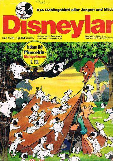 Disneyland Heft 10/73 Das Lieblingsblatt aller Jungen und Mädchen