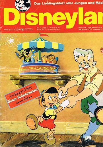Disneyland Heft 24/73 Das Lieblingsblatt aller Jungen und Mädchen