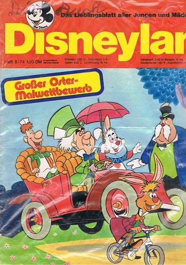 Disneyland Heft 8/74 Das Lieblingsblatt aller Jungen und Mädchen