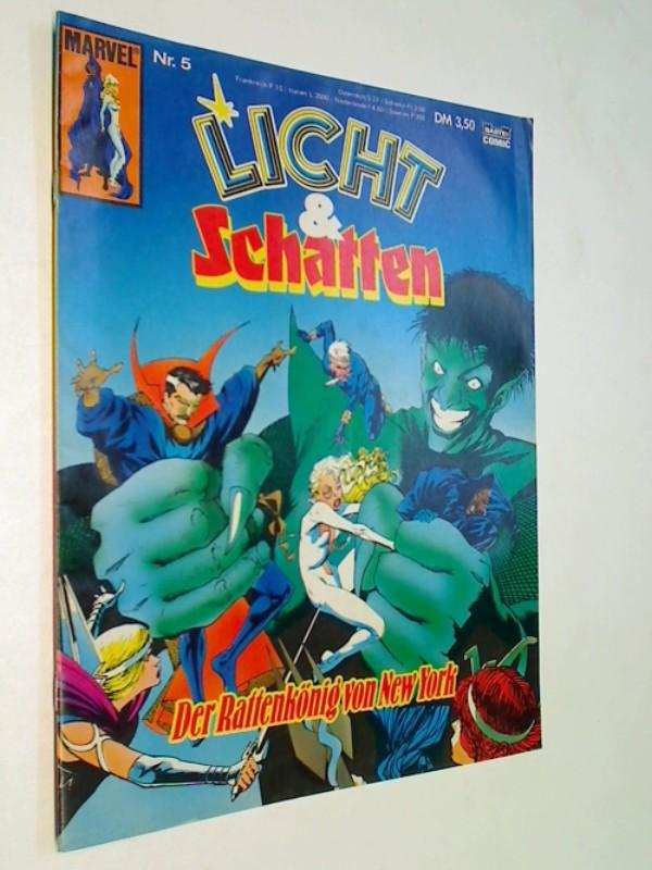 Licht & Schatten Nr. 5: Der Rattenkönig von New York, mit Dr. Strange (= Cloak and Dagger, Bastei Marvel Comics), ERSTAUSGABE 1989
