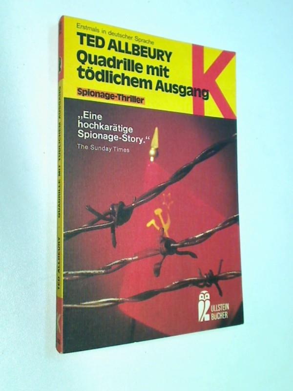 Quadrille mit tödlichem Ausgang. ERSTAUSGABE 1978