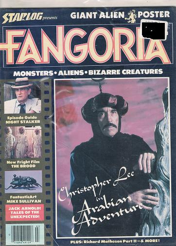 Fangoria Issue # 3 December 1979, (Starlog presents) Monster Aliens Bizarre Creatures. (Horror Magazine)
