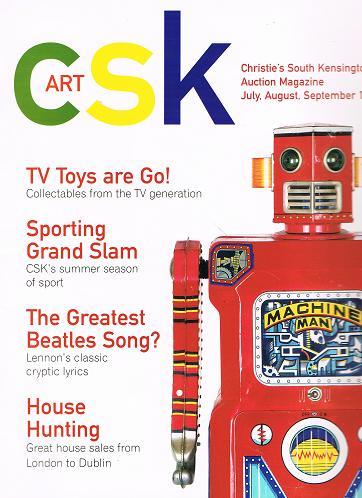 Christie´s South Kensington.  Art csk Auction Magazine July, August, September 1999.