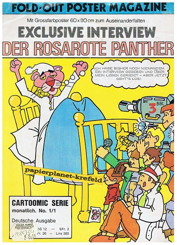 Cartoomic Serie No. 1: Der rosarote Panhter Exklusive Interview, Fold-Out Postermagazine.