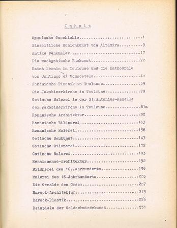 Spanien-Exkursion des kunstgeschichtlichen Instituts der Universität Freiburg/Br. Herbst 1961