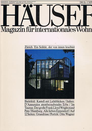 Häuser 1988 Heft 3 (Ein Journal von Schöner Wohnen) Aus aller Welt: Wohnideen für Individualisten.