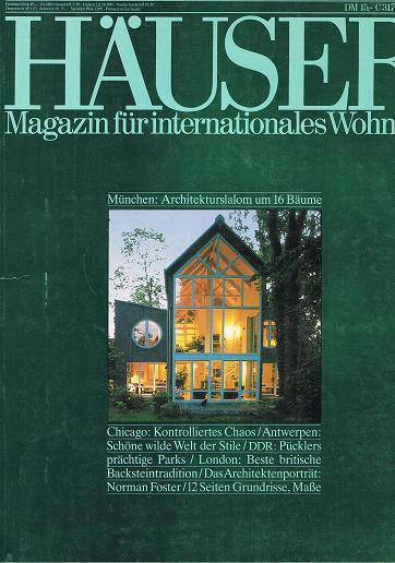 Häuser 1990 Heft 1 (Ein Journal von Schöner Wohnen) Aus aller Welt: Wohnideen für Individualisten.