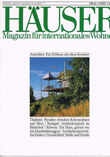 Häuser 1992 Heft 1 (Ein Journal von Schöner Wohnen) Aus aller Welt: Wohnideen für Individualisten.
