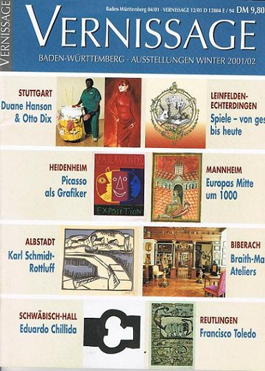 Vernissage Nr. 12 / 2001, Baden-Württemberg Ausstellungen Winter 2001 / 02 (Die Zeitschrift zur Ausstellung)