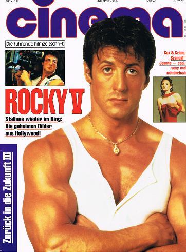 Cinema 1990 Nr.7 (Heft 146) , Sylvester Stallone  Rocky V Cover, 28.9.1990, Filmzeitschrift