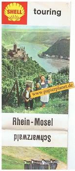 Shell touring Rhein - Mosel / Schwarzwald 1 : 600 000
