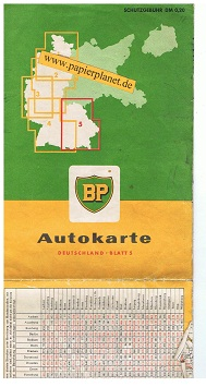 BP Autokarte Deutschland Blatt 5 , Maßstab 1 : 500 000
