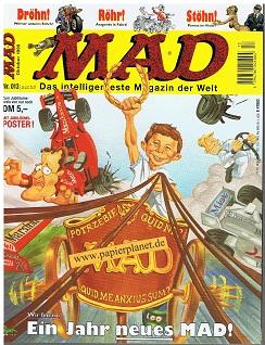 MAD Nr. 013 , mit Poster Okt 1999, Das intelligenteste Magazin der Welt (Dino Comics)
