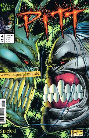 Pitt Heft 4 , Sep 1998, (Speed Image Comics) Comic-Heft