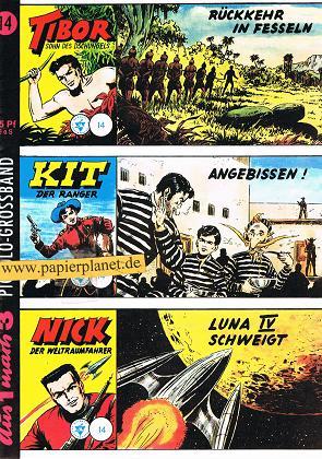 Piccolo-Grossband 14, Tibor, Kit, Nick (Hetke-Reprint) Comic-Heft