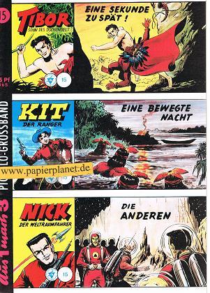 Wäscher, Hansrudi: Piccolo-Grossband 15, Tibor, Kit, Nick (Hetke-Reprint) Comic-Heft