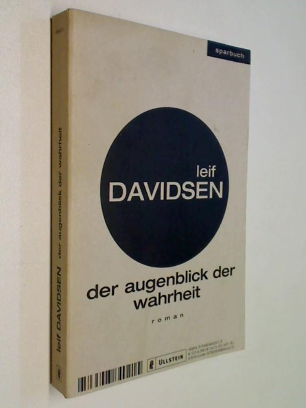 Davidsen, Leif: Der Augenblick der Wahrheit : Thriller = Lime's billede ; 9783548840215