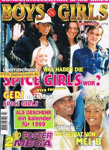 Boys & Girls Magazin No. 3 Sonderkollektion Spice Girls , Okt- Nov 1998