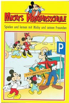 Mickeys Verkehrsschule Die Strasse überqueren, mit Stickerbogen.  Spielen und lernen mit Micky und seinen Freunden ( Walt Disney)