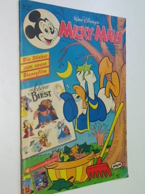 Micky Maus Heft 1992 Nr. 50 mit Beilage Sticker , 3.12.1992, Ehapa Comic-Heft