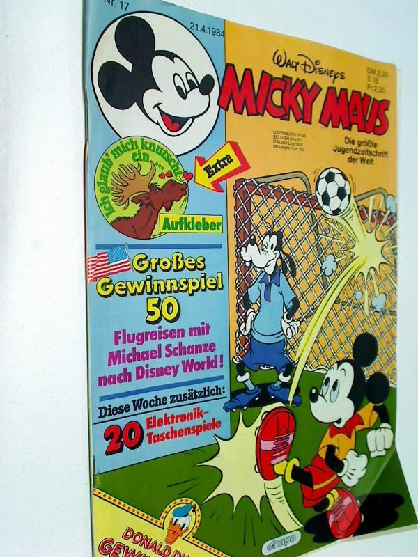 Micky Maus Heft 1984 Nr. 17, mit Sticker, 21.4.1984, Comic-Heft