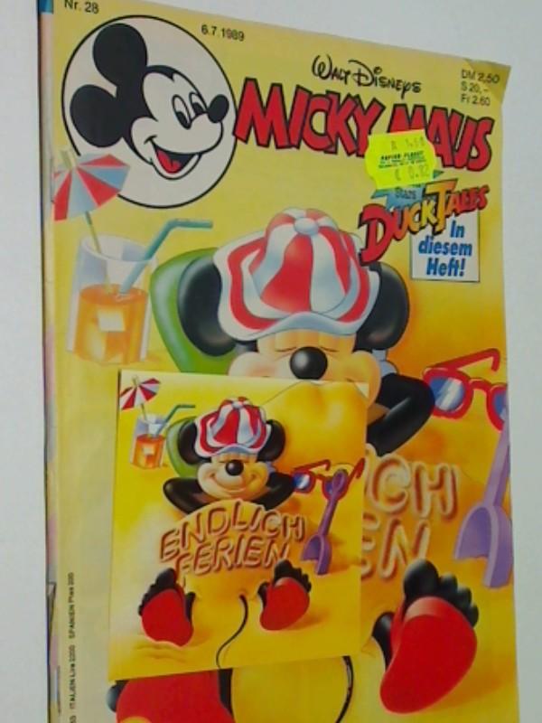 Micky Maus Heft 1989 Nr. 28 mit Sticker & Mini-Comic Nr. 26 , 6.71989, Ehapa Disney Comic-Heft
