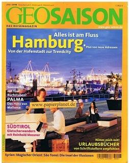 Geo Saison 2008 Nr. 7 : Hamburg - Syrien - Südtirol : Gletscherwandern mit Reinhold Messner