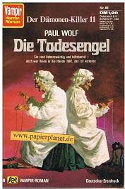Vampir Horror-Roman 63 Dämonenkiller 11:  Die Todesengel , 1974, Roman-Heft
