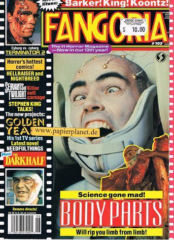 Fangoria Issue # 105 , Terminator 2, Body Parts (Horror Magazine)