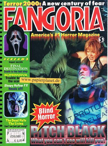 Fangoria Issue # 190 PITCH BLACK Supernova SCREAM 3  Sleepy Hollow FX (Horror Magazine)