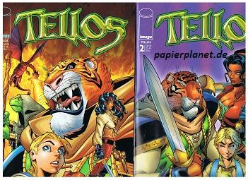 Tellos Heft 1, 2 ( =komplett), April - Juni 2000,  Panini Generation Image Comics. Comic-Heft