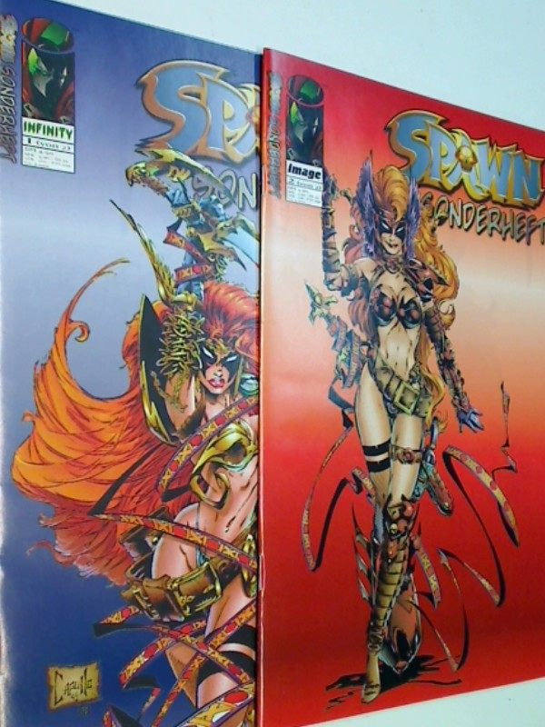 Gaiman, Neil und Greg Capullo: Spawn Sonderheft 1 & 2 Spawn & Angela, Nov Dez 1997,  Infinity Image Comics. Comic-Heft, ERSTAUSGABE