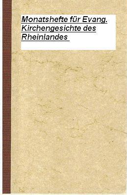 Monatshefte für Evangelische Kirchengeschichte des Rheinlandes 1977