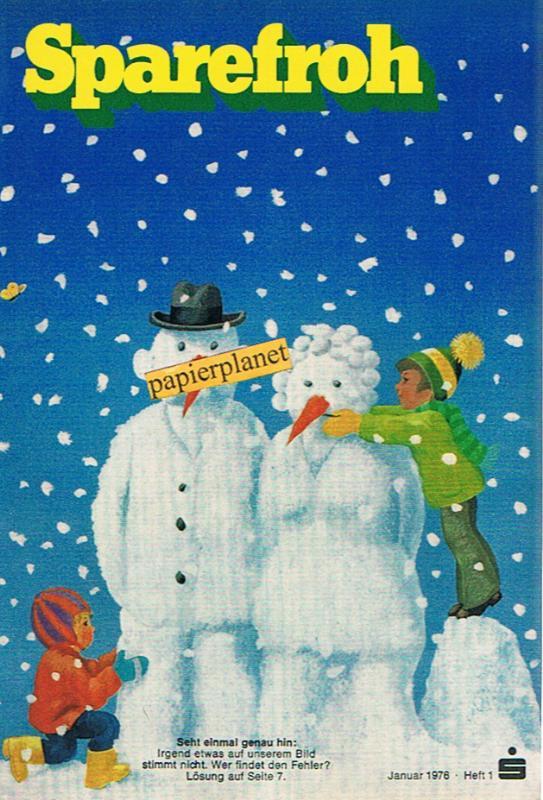Sparefroh 1976 Heft 1 Januar , Mit Disney-Comic: Die Schatzinsel. ( Sparkassenwerbeheft)