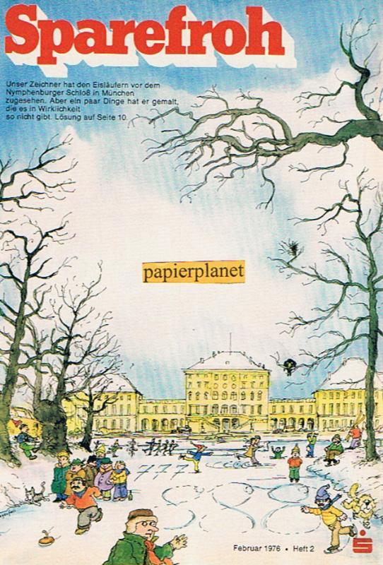 Sparefroh 1976 Heft 2 Februar , Mit Disney-Comic: Die Schatzinsel.  ( Sparkassenwerbeheft)